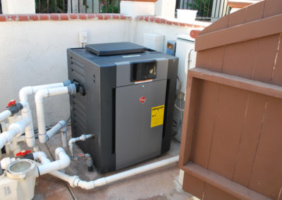 Completed-Raypak-pool-heater-installation-in-Rancho-Bernardo-San-Diego